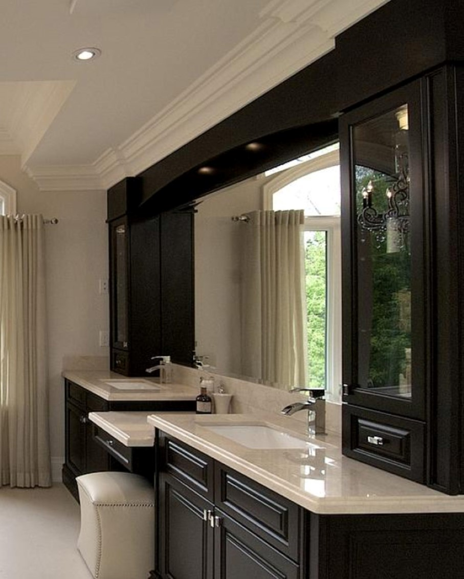84 inch bathroom vanity brings you exclusive awe in for Bathroom cabinet ideas photos