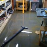 cleaning flooding basement