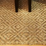 cleaning jute rugs in diamond motif with natural materials