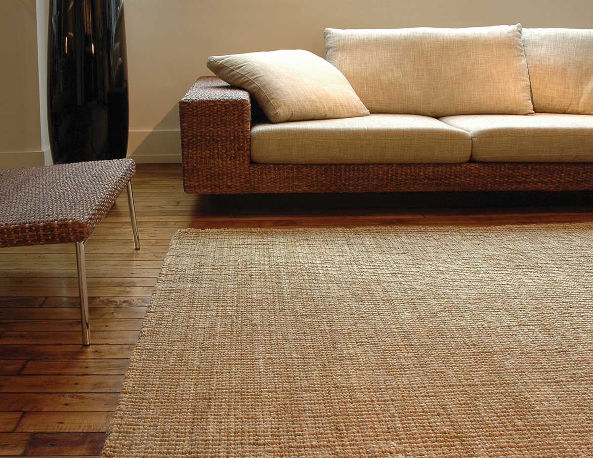 Cleaning Soft Jute Rugs Kilimanjaro Brown In Living Room