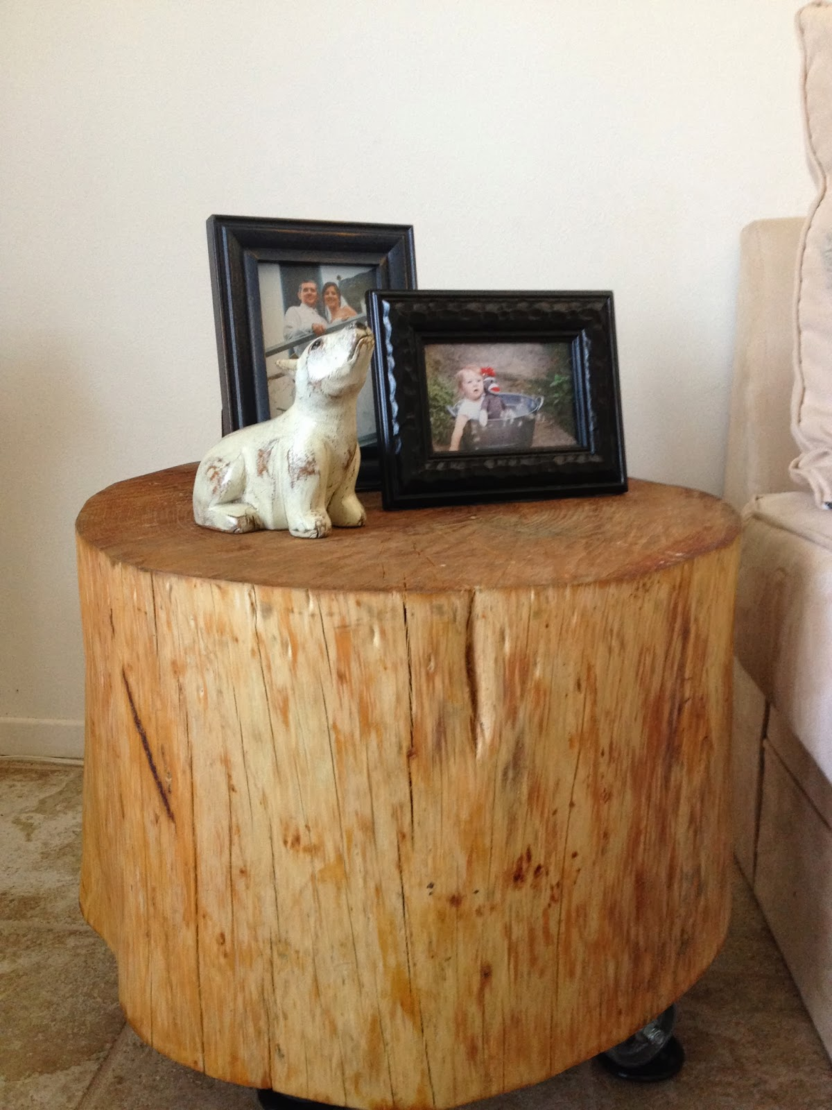 how to make a handmade natural tree stump side table? | homesfeed