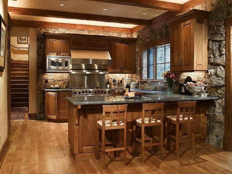 Mid Century Modern Kitchen Cabinet Shows Elegant