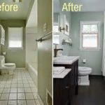 cool fresh outlook in bathroom remodeling contractors with elegant dark laminate floor and stupendous wall decor