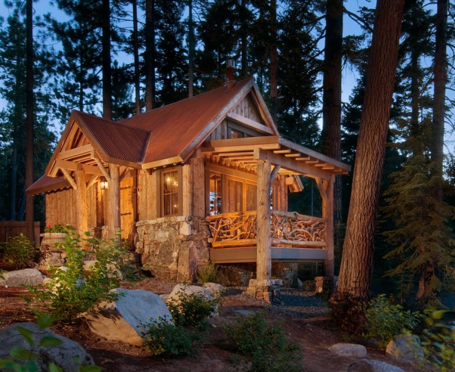 Cool Cabin Plans   Small Rustic Cabin Plans Homesfeed