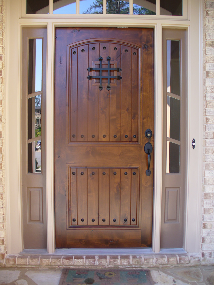 Make your guests and friends impress with stunning front for Wood window door design