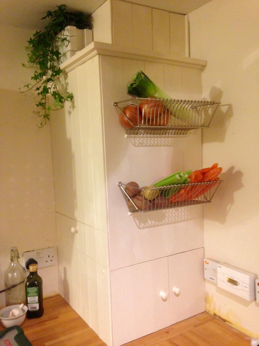 Wall Mounted Fruit Basket Inserts The Interior Stylishly