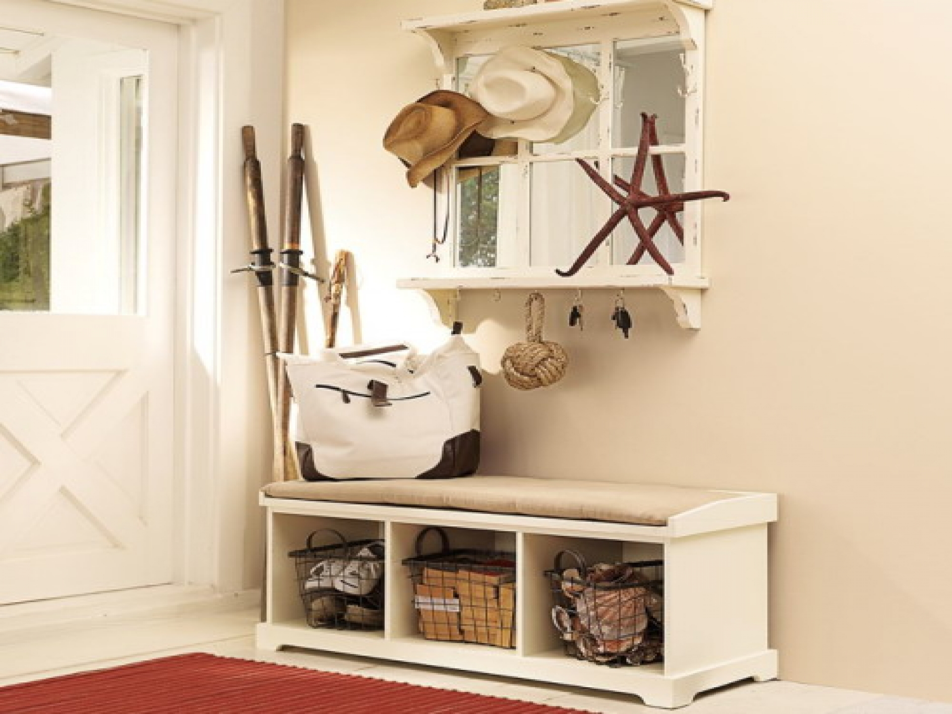Styles of Corner Entryway Bench Layouts - HomesFeed