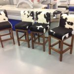 cowhide dining chairs seies with wood legs