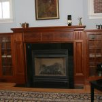 craftsman fireplace mantel with large storage systems for wood burned fireplace building a grand piano and its bench in black color wood floors a luxurious carpet