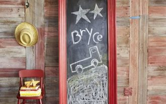 creative-cool-awesome-great-budget-jumbo-framed-chalkboard-with-asian-wooden-red-color-with-nice-simpe-framing-for-classic-home-decoration-