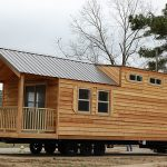 creative-cool-nice-traditional-protable-mall-rustic-cabin-plan-Cedar-sided-cabin-waits-to-be-moved-onto-lot-with-wheels-concept