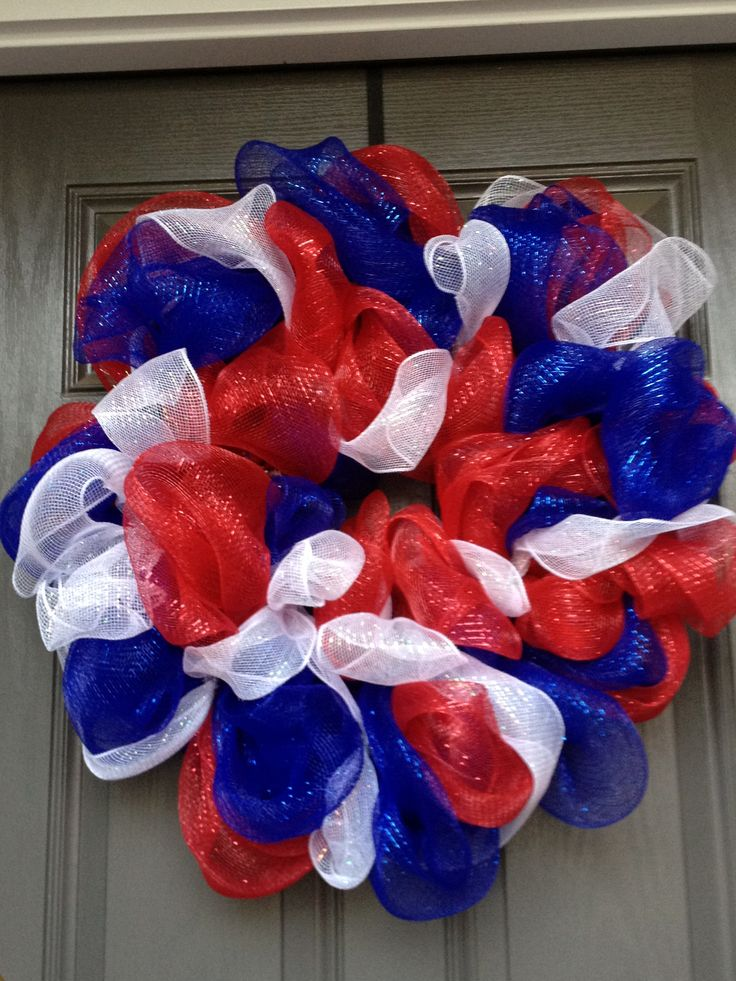 8 Ideas of Fourth of July Wreath by DIY | HomesFeed