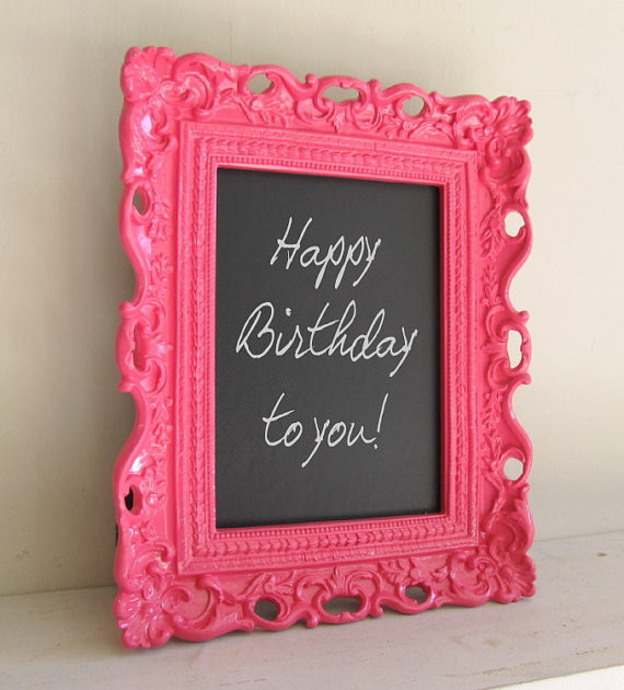 creative nice cool simple small framed chalkboard with