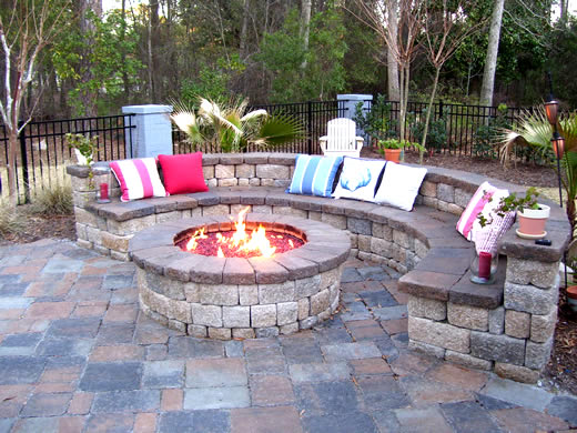 Creative Nice Small Simple Patio With Fire Pit