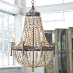 creative work of oyster shells pendant chandelier for coastal home style