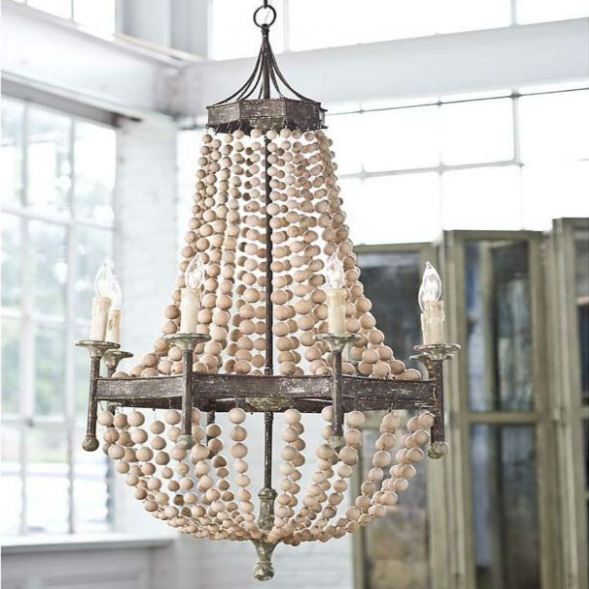 Oyster shell chandelier ideas homesfeed creative work of oyster shells pendant chandelier for coastal home style aloadofball Image collections