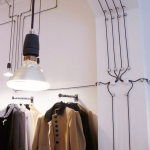 decorative electric wire organizing  on wall