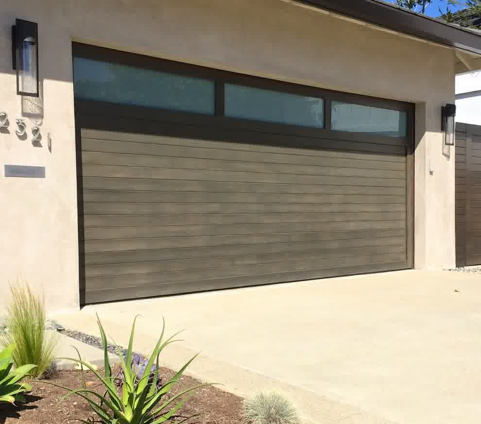Impressive mid century modern garage doors the perfect for Modern house with garage