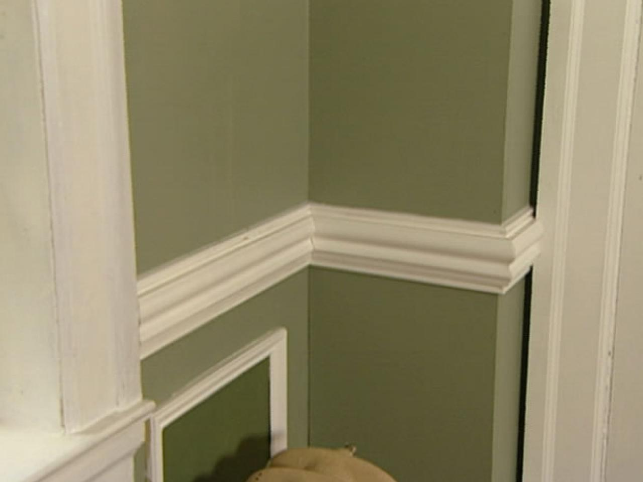 Exellent Chair Rail Molding Dining Room Layered Rail Moldings For Green  Wall System Flat Chair Molding