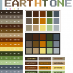 Earth Tone Color Scheme Which Has Some Colors Such As Black Green Orange Brown Grey Old Blue Old Red Old Orange