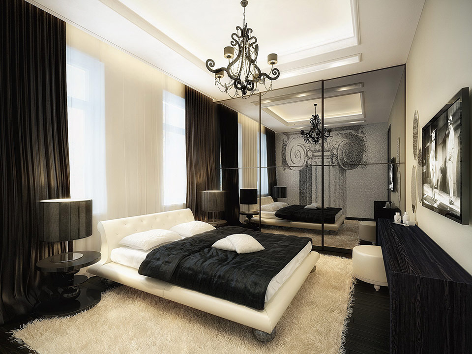 black and white bedroom ideas for young adults. Elegant Black And White Bedroom Ideas With Panel Bed Round Nightstands Table Lamps For Young Adults M