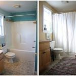 enchanting bathroom remodeling contractor with turquoise wall color and shabby chic wooden furniture