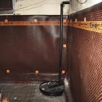 Exterior Waterproofing Basement With Membrane Waterpfoof System On Wall