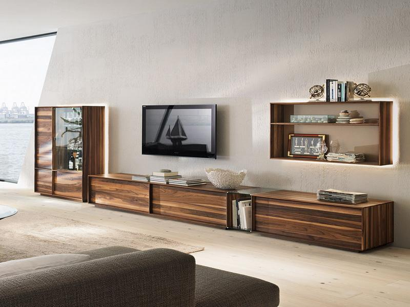Extra Long Media Cabinet Made From Wood Floating TV Installation A Floating  Shelving Unit For Organizing