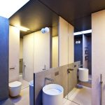 floor to ceiling mirror for bathroom a floating cylinder sink and faucet a closet appliance