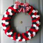 floral rosette wreath for fourth of July