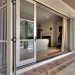folding glass nano doors with trims floor to ceiling white curtains for glass door