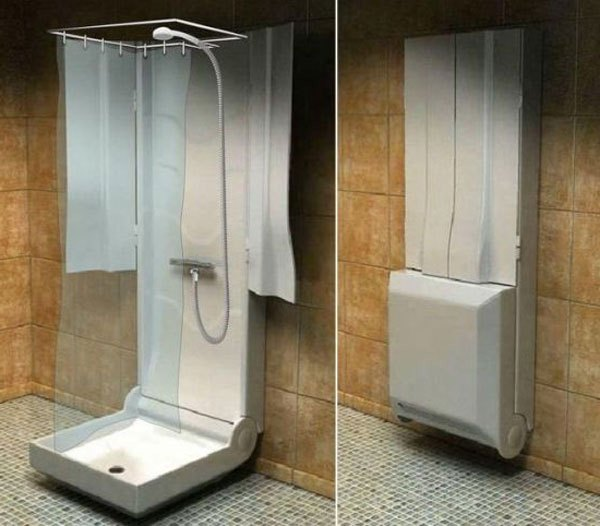 Attirant Folding Shower Space With Folding Head Shower