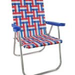 french flag lawn chair idea with baverage armrest and large backrest from flexible material with stainless steel beams for folding