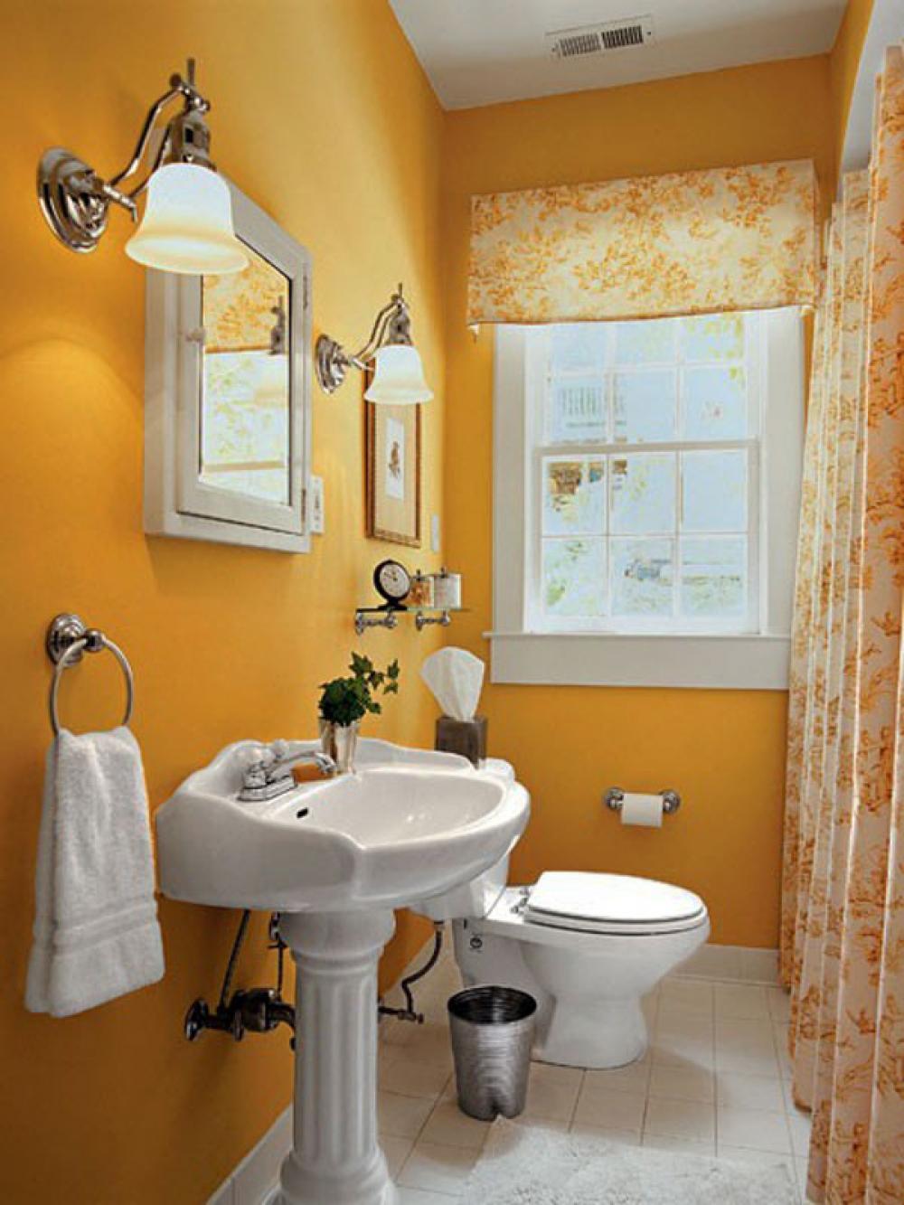Bathroom Curtains For Small Window Delonho. Yellow Bathroom Window Curtains   Rukinet com