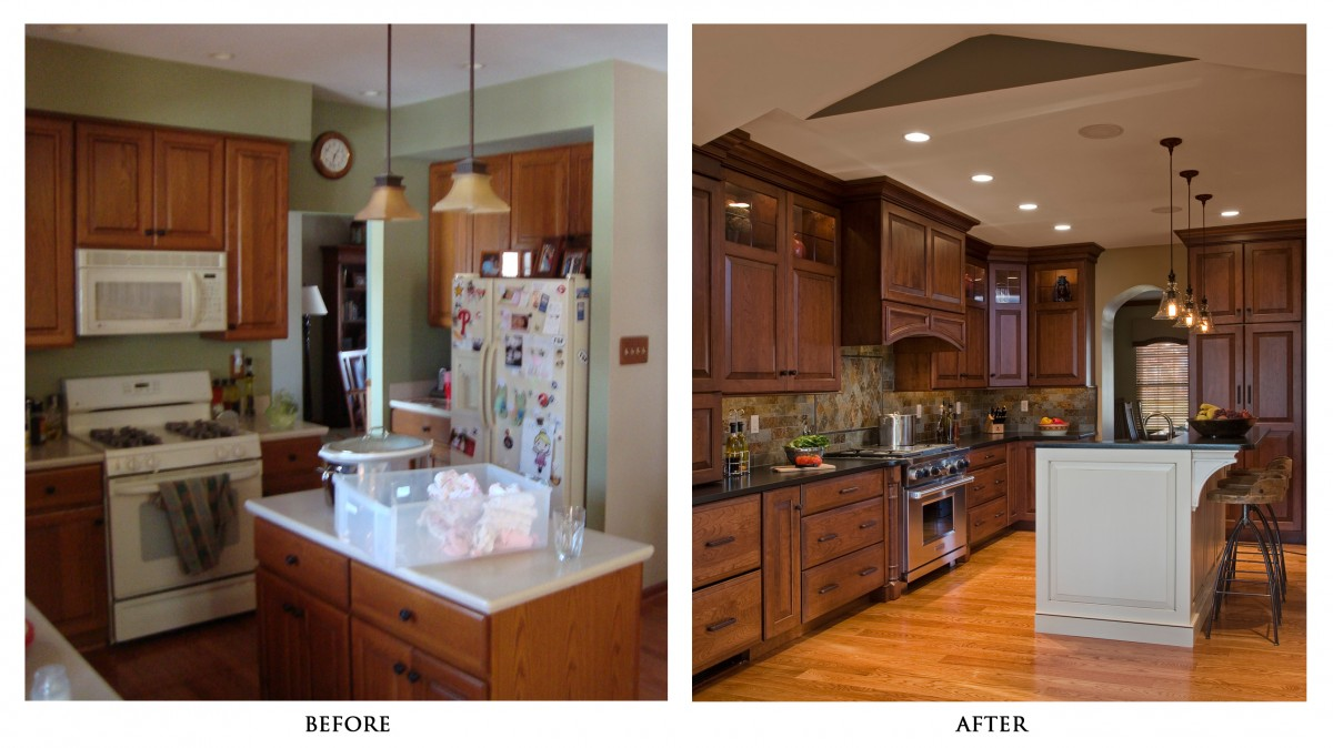 Galley Small Kitchen Remodel Before And After With New Cabinet Furnishing  And Stove Oven And Stylish