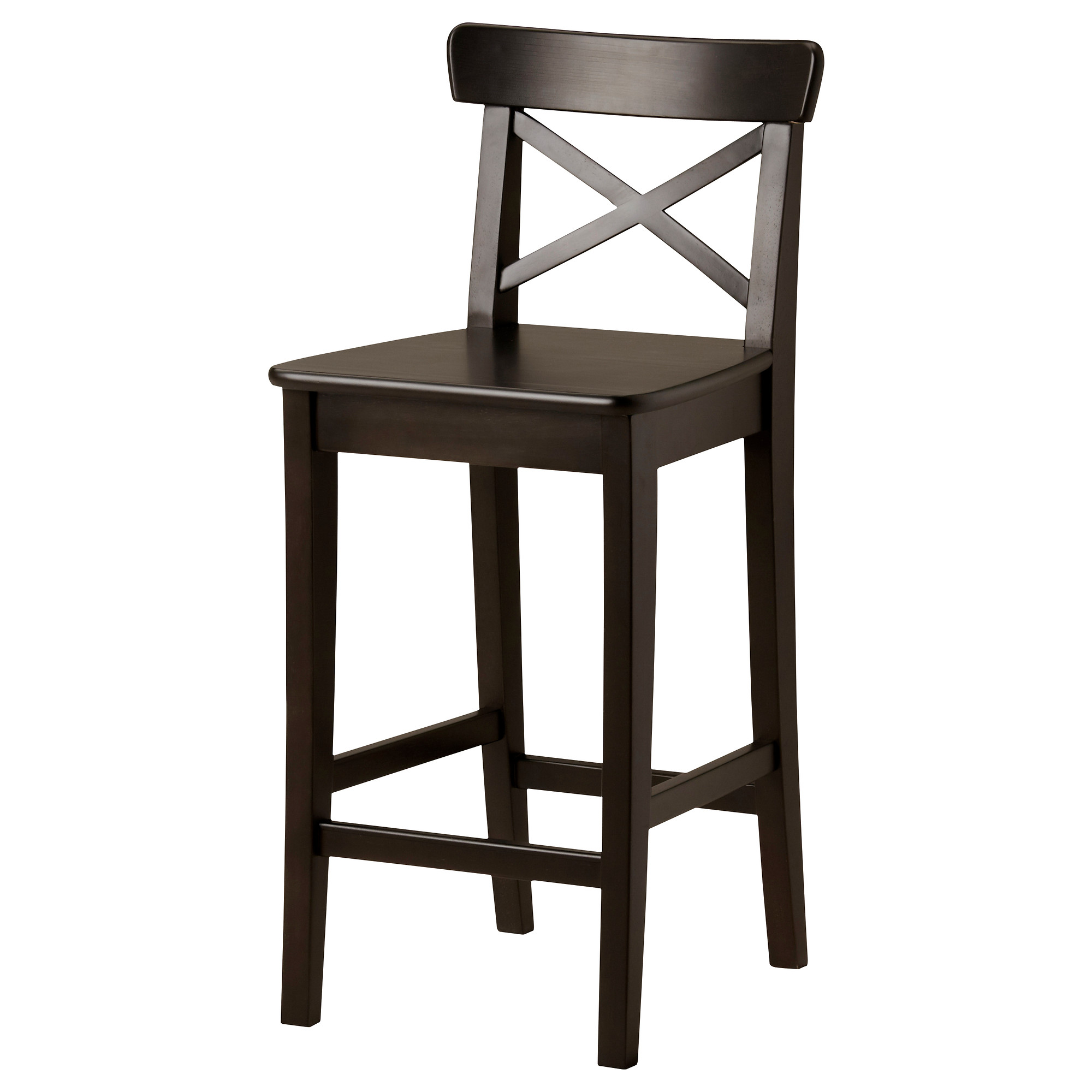 Cool Bar Stools Design Gives Perfection Meeting Urban  : glossy brown wooden bar stool design with cross backrest idea and flat hard seating and tall legs with footrests from homesfeed.com size 2000 x 2000 jpeg 218kB