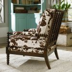 gorgeous elegant brown patternd bolster seating and armrest accent design of wooden spool chair with brown wooden spool frame