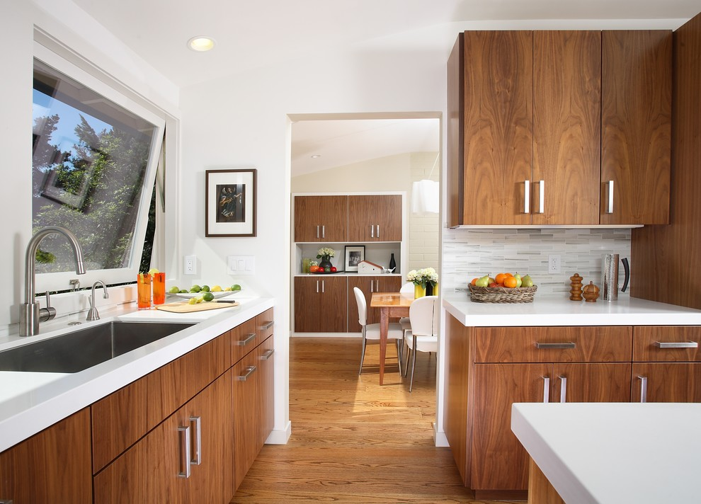 Interior Mid Century Kitchen Cabinets mid century modern kitchen cabinets recommendation homesfeed hardwood with stainless steel handles a large sink single faucet flooring for cabinet in