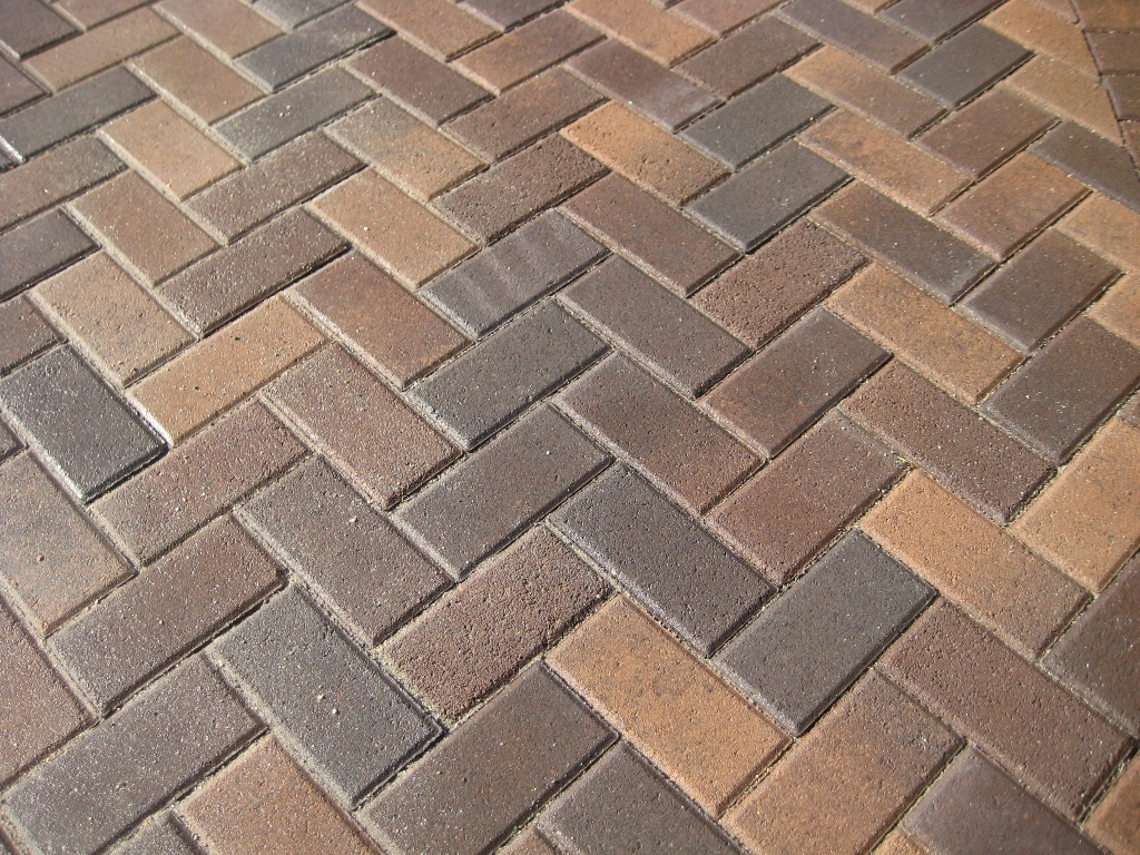 Herringbone Brick Paver Patterns For Pathways With Stack Bone Edge And 3  Color Brick For Stunning