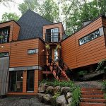 home living constructed from large shipping containers