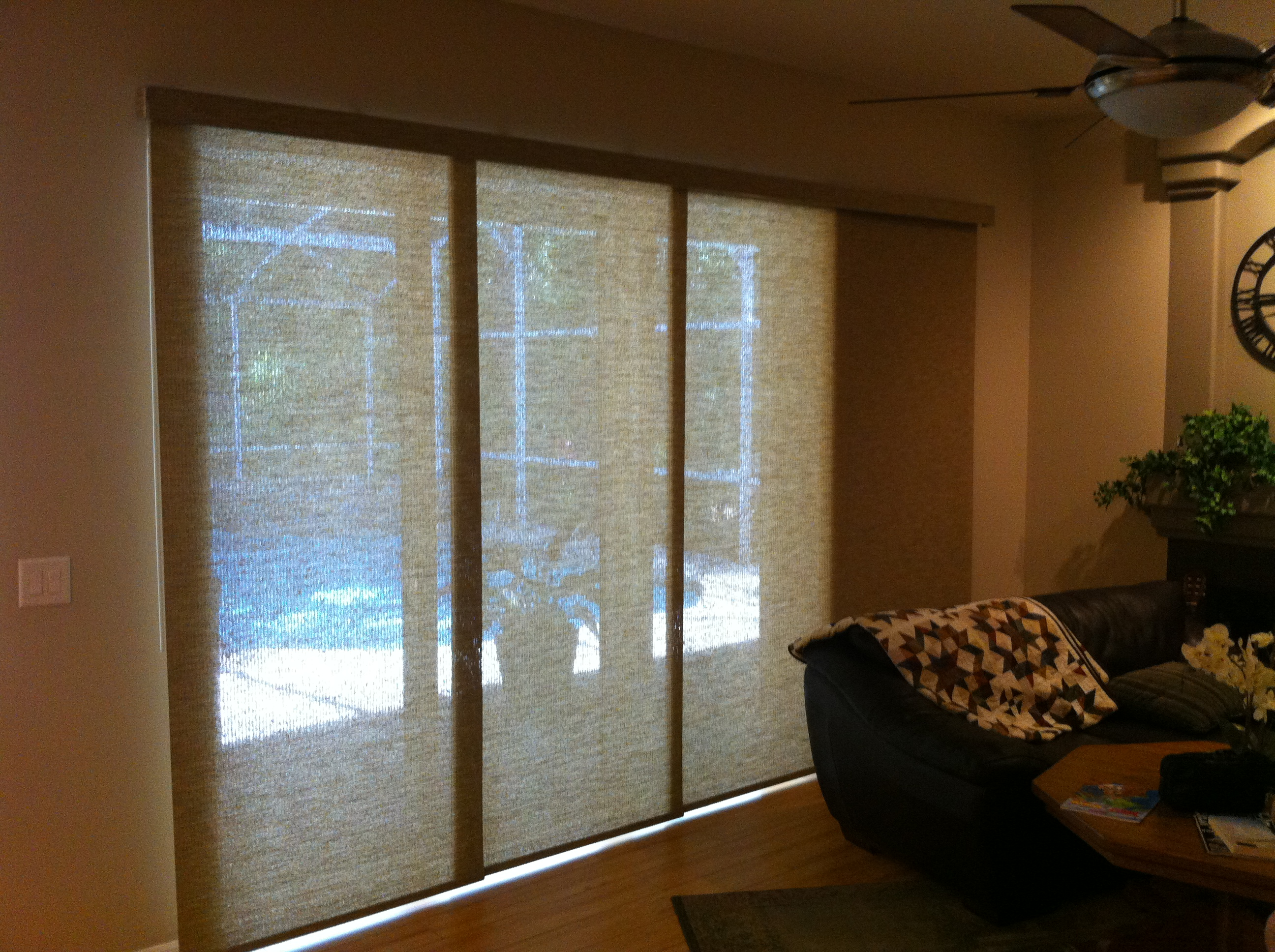 Vertical cellular slider shades uk levolor perceptions Glass sliding doors