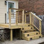 horizontal deck railing project