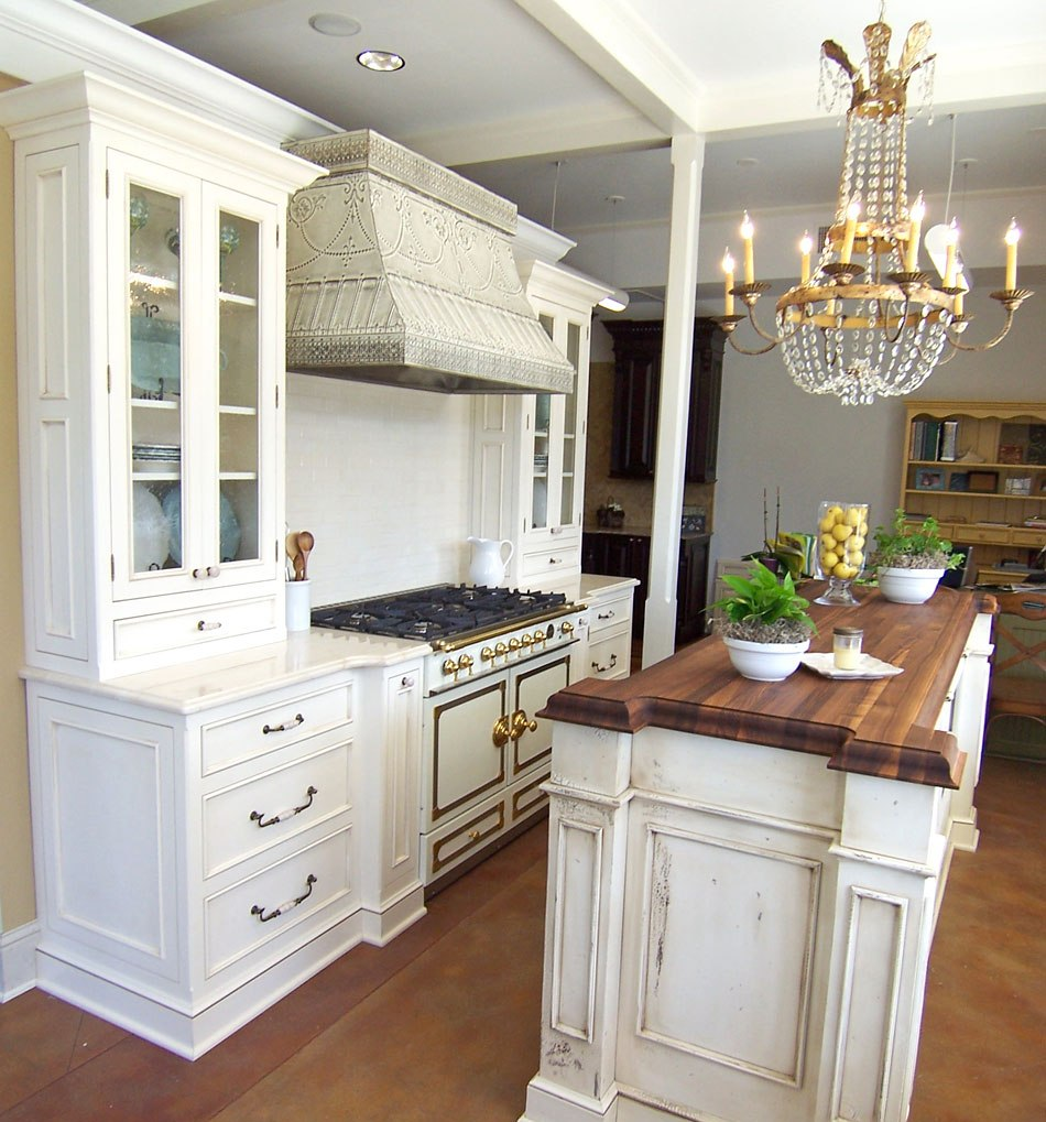 creative kitchen counter top design disguises low cost price inexpensive walnut wood kitchen island countertop with white storage beneath luxurious golden chandelier aside white cabinetry