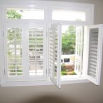 installation of window shutters in swing door windows