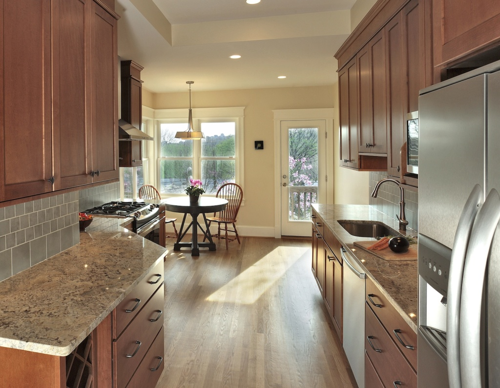 Kitchen Remodeling Northern Virginia With Modern Kitchen Cabinets And  Marble Countertop Plus Sink And Dining Area
