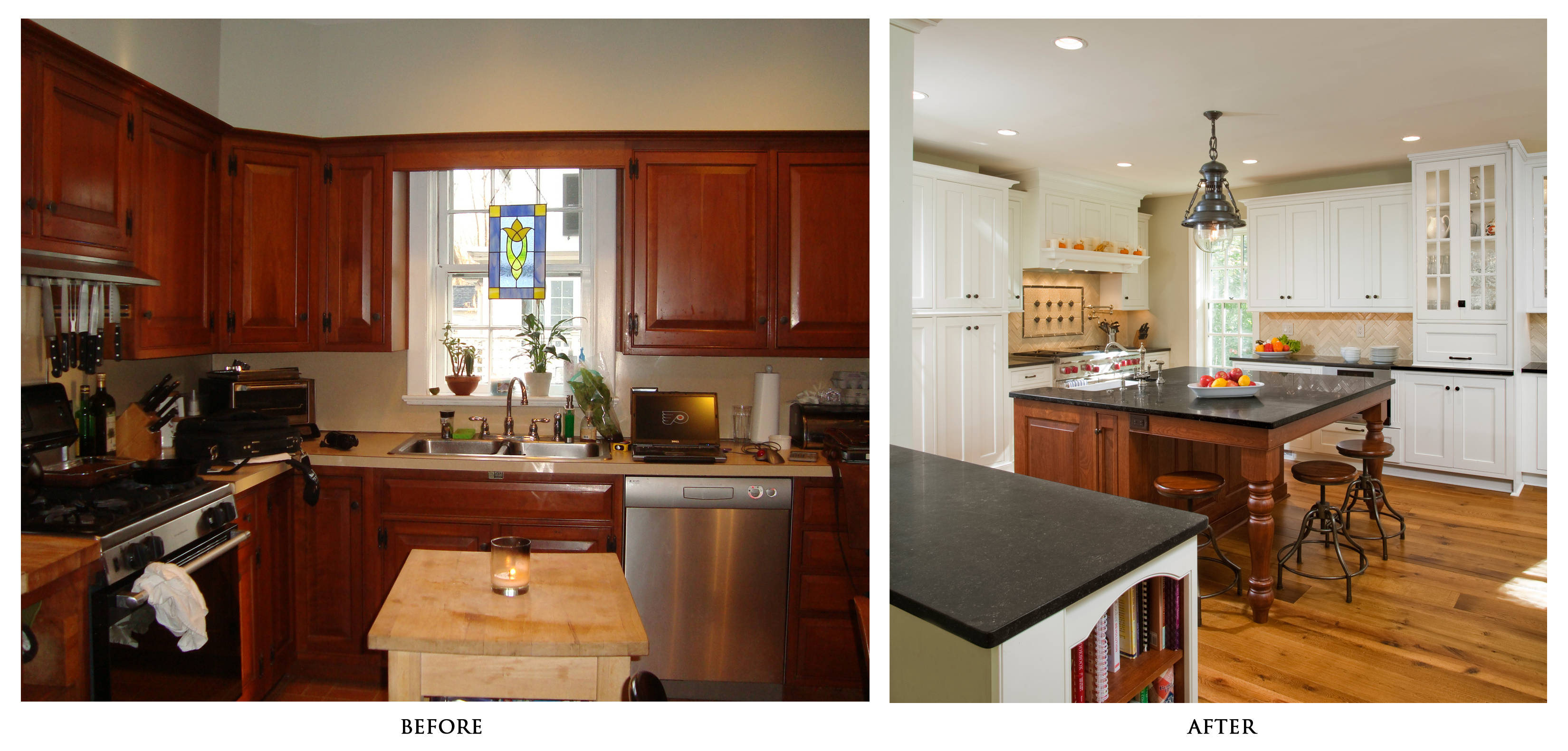 kitchen design photos before and after. Kitchen Renovations Before And After With Light Cabinets Granite  Countertop Plus Unique Pendant Limpt On Get The Fresh Cool Outlook Inspiration Kitchen Remodeling