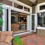 la cantina door with white trim red pave floors for outdoor brown sofa for porch