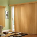 light brown vertical blinds for sliding glass door