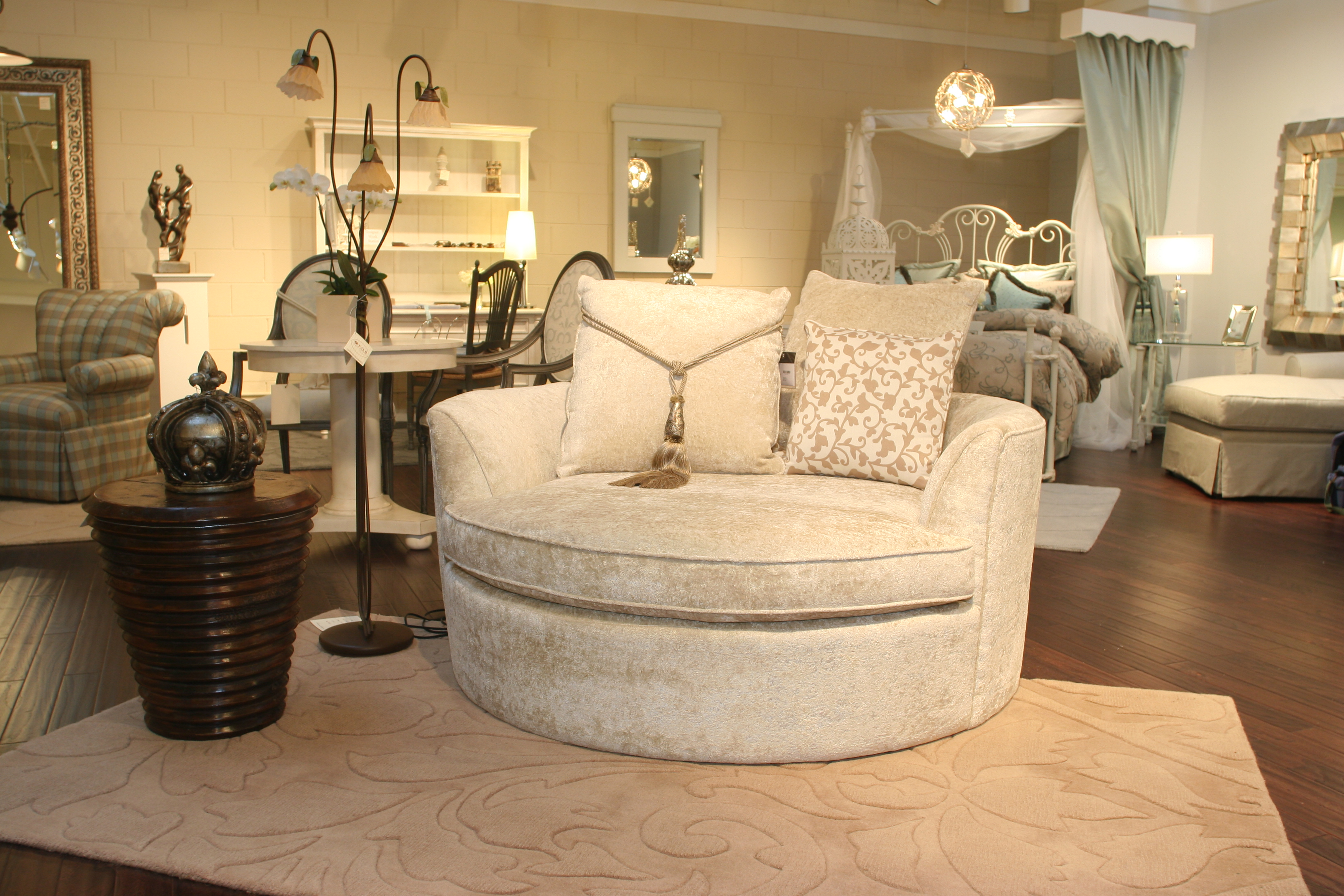 Round Settee Represents A Symbol Of Minimalist Style For