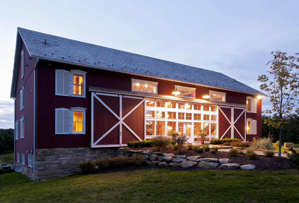 Pole barn house designs the escape from popular modern for Barn style house designs